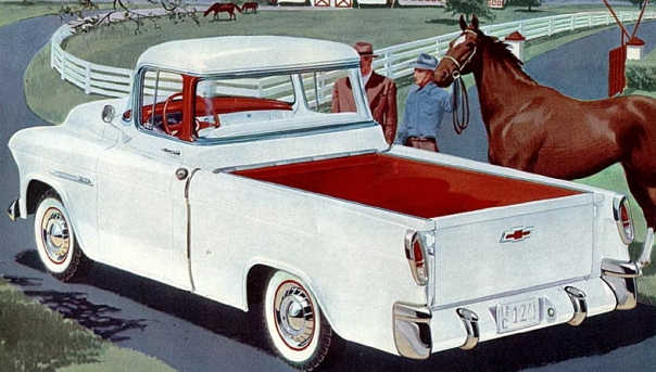A 1955 Chevrolet Cameo Carrier