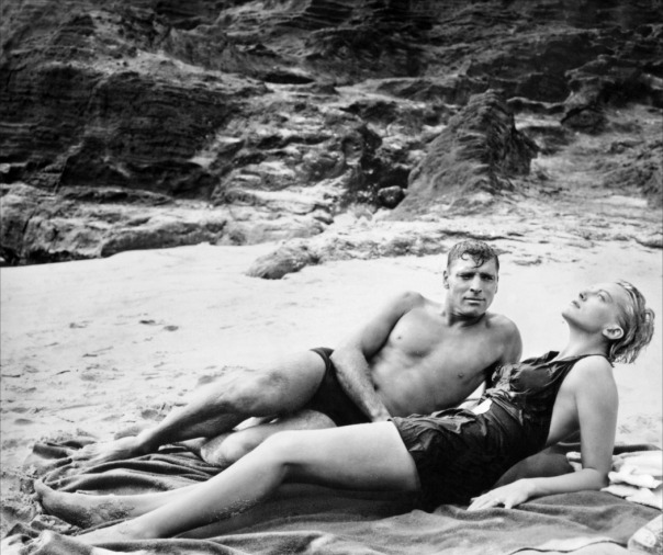Lancaster with Deborah Kerr, on the infamous beach in From Here to Eternity