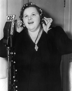 Kate Smith -- not likely to provoke jealousy among American women tuning in to her show on CBS.