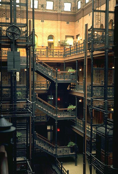 A Bradbury Building interior