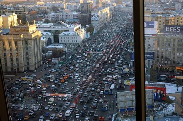A bit of traffic in Guadalajara