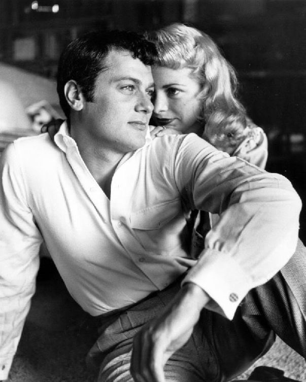 Acting with Tony Curtis