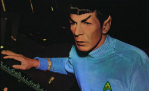 Spock at control panel